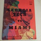 The Orange Bowl Football Program Nov.10,1967 George Tech vs Miami