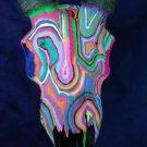 Funky Folk Art Psychedelic Painted Gazelle Skull