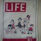 Vintage 1940's Life Hanky Hankie