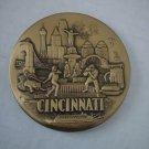 Vintage Solid Bronze Medallion Souvenir Cincinnati Ohio