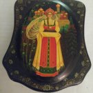 Vintage 2002 Signed and Dated Lacquer Russian Palekh Painted Box