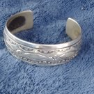 Vintage Sterling Silver Navajo Cuff With Indian markings and Bears