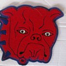 Vintage Large Cloth Red Bulldog Patch With Heart Eyes