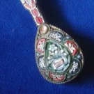 Vintage Italy Italian Micro Mosaic Mandolin Instrument Pin