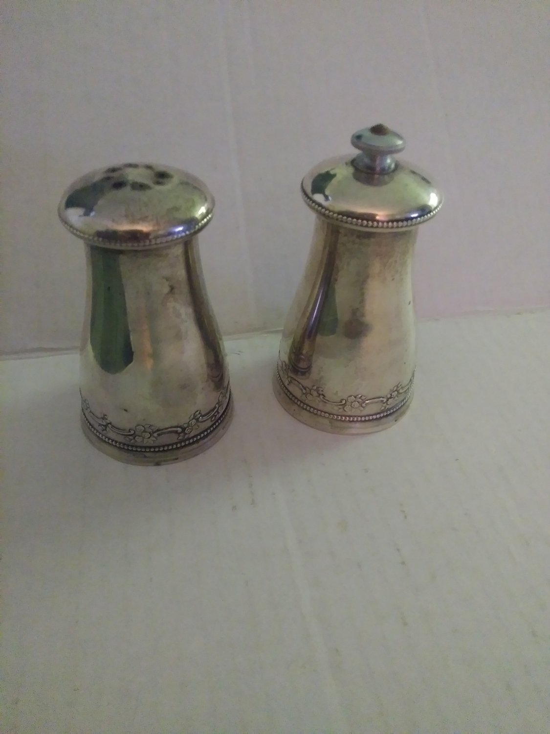 Vintage Sterling SiIver Gorham Peugeot Pepper Mill/Salt Shaker Pair