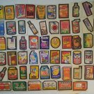 Vintage 1960's 1970's Wacky Pack Card Mixed Series Lot