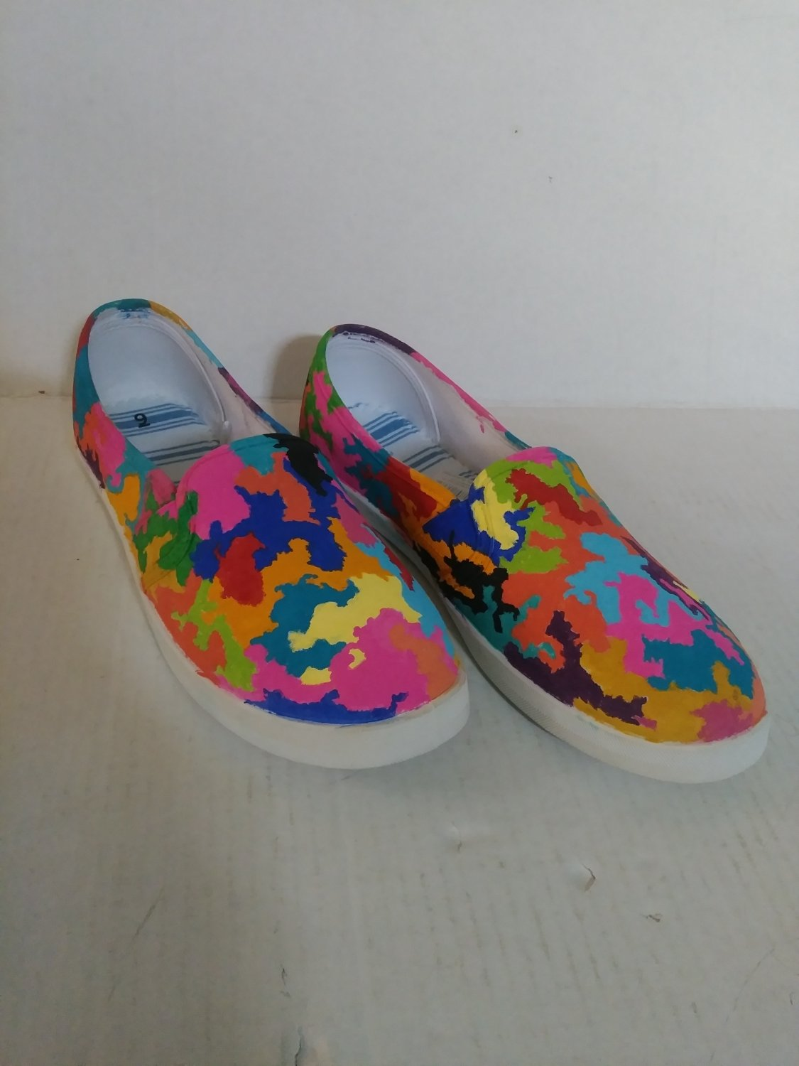 Size 9 Women's Custom Hand Painted Canvas Shoes