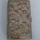 Vintage Brass Flower Motif Cigarette Case