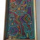 Vintage Kuna Mola Art Monkey Panama Applique Hand Sewn Framed Under Glass