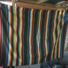 "Vintage Antique Mexican Southwest  Saltillo Serape  62"" X 92""  Blanket Rug"