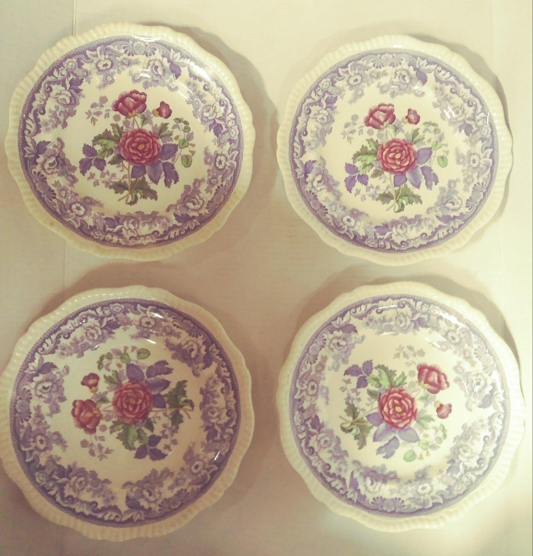 Copeland Spode Mayflower Dinner Plate 2/8772 Lot of 4 Plates