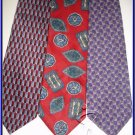 NEW COCKTAIL COLORS SMALL PATTERN SILK NECK TIES LOT