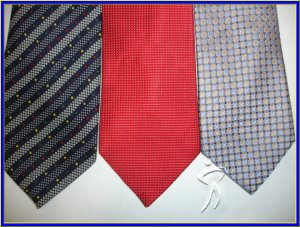 NEW DESIGNER STAFFORD MERONA STRIPE DOTS SOLD SILK TIES