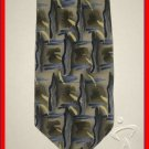 MENS CROFT BARROW ABSTRACT ART DECO PAINT SILK NECK TIE