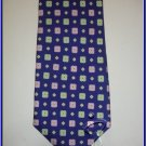 NEW EXECUTIVE DESIGNER STYLE SILK TIE BLUE SMALL PATERN