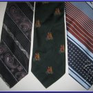 MEN RARE VINTAGE 1970s 1960s THICK WIDE RETRO NECK TIES