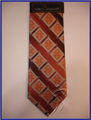 MENS NEW STACY ADAMS SILK NECK TIE PAISLEY FLORAL NR