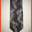 Mens New w/Tag Caribbean Hawaiian Bird of Paradise TIE