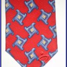 NEW EXECUTIVE DESIGNER STYLE SILK TIE RED SEQUENCE NECK