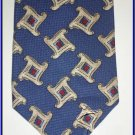 NEW EXECUTIVE DESIGNER STYLE SILK TIE BLUE WHITE PATTER