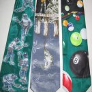 MENS SPORTS FISHING POOL TABLE BALLS NOVELTY NECK TIES