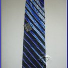 MEN NEW W/TAG STACY ADAMS SILK TIE BLUE LINES EXECUTIVe
