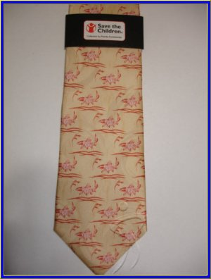 NEW SAVE THE CHILDREN SILK TIE ASIA WORLD FISH COLLECTI