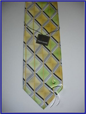 MENS NEW W/TAG STACY ADAM SILK TIE PLAID WEDDING SUIT