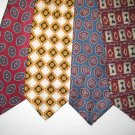MENS LANDS END GAP GANT SMALL PATTERN SILK NECK TIES NR