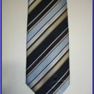 NEW BERGAMO HANKY CUFFLINK TIE SET BLUE STRIPES DESIGNE