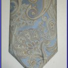NEW BERGAMO HANKY CUFFLINK TIE SET PAISLEY ART DECO BLU