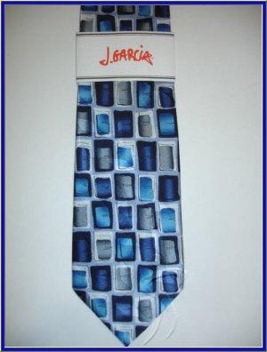 NEW J. JERRY GARCIA SILK TIE DESERT STROM BLUE