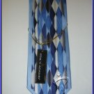 MENS NEW W/TAG STACY ADAM SILK TIE PLAID BLUE NECKTIE