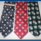 MENS NEW W/TAG POKER GAME CARDS GAMBLING SILK TIES LOT