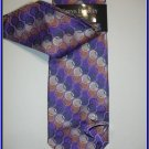 NEW STEVE HARVEY SILK TIE W/ HANKY POLKA DOTS ART DECO