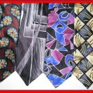 MEN CD CHRISTIAN DIOR etc LARGE PATTERNS SILK NECK TIES