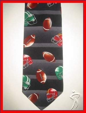 MENS SPORTS FOOTBALL FOOT BALL SILK NECK TIE NOVELTY