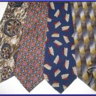 MENS JIMMY COCKTAIL COLLECTION DESIGNER SILK NECK TIES