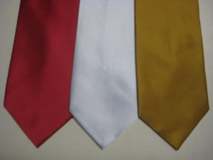 MENS NEW W/TAG SOLID COLOR PLAIN WEDDING SUIT NECK TIES