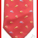 MENS ROXY SEA FISH DOLPHIN PATTERN SILK NECK TIE WEAR