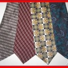 MENS DESIGNER COLLECTION PAISLEY SQUARES SILK NECK TIES