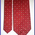 NEW GEOFFREY BEENE SILK TIE RED WHITE POLKA DOTS