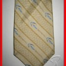 MENS PFIZER OPHTHALMICS LOGO REPEAT SILK NECK TIE WEAR