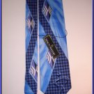 MENS NEW STACY ADAMS SILK TIE BLUE LARGE PATTERN
