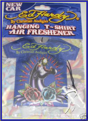 Ed Hardy AIR FRESHENER T Shirt Sachet Black Panther Car