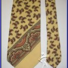 NEW POLO RALPH LAUREN WOOLEN TIE PAISLEY YELLOW NECKTIE