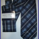 NEW GIORGIO BRUTINI HANKY TIE SCOTTISH PLAID NECKTIE