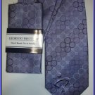 NEW GIORGIO BRUTINI HANKY TIE CIRCLES BUBBLES SUIT NECK