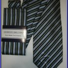 NEW GIORGIO BRUTINI HANKY TIE PIN STRIPES WEDDING SUIT