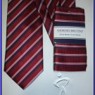 NEW GIORGIO BRUTINI HANKY TIE WEDDING SUIT STRIPES